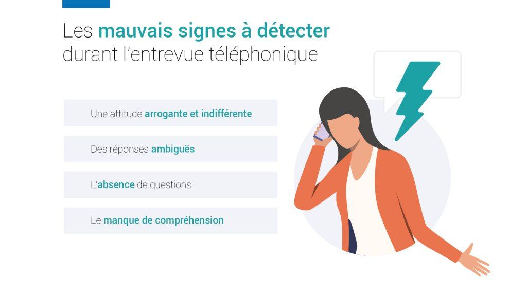 Les mauvais signes à détecter durant un entretien téléphonique