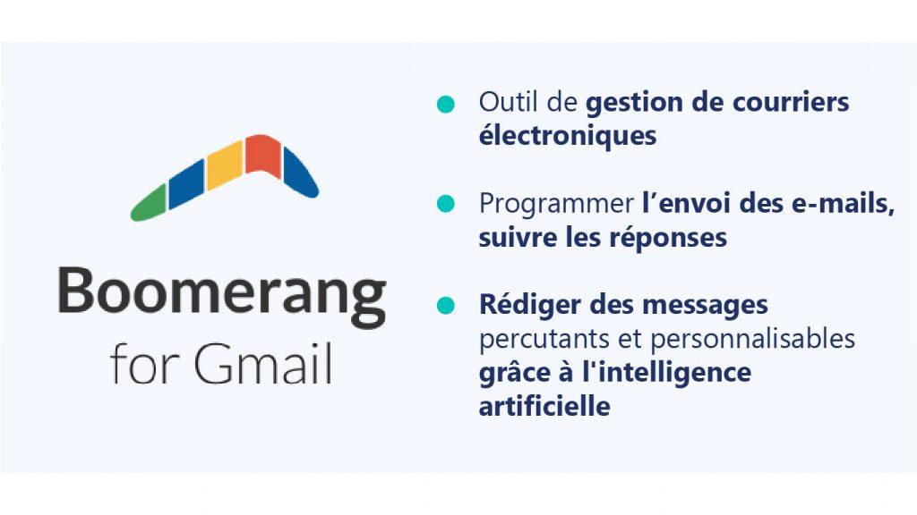 Boomerang for Gmail, extension Google Chrome pour le recrutement
