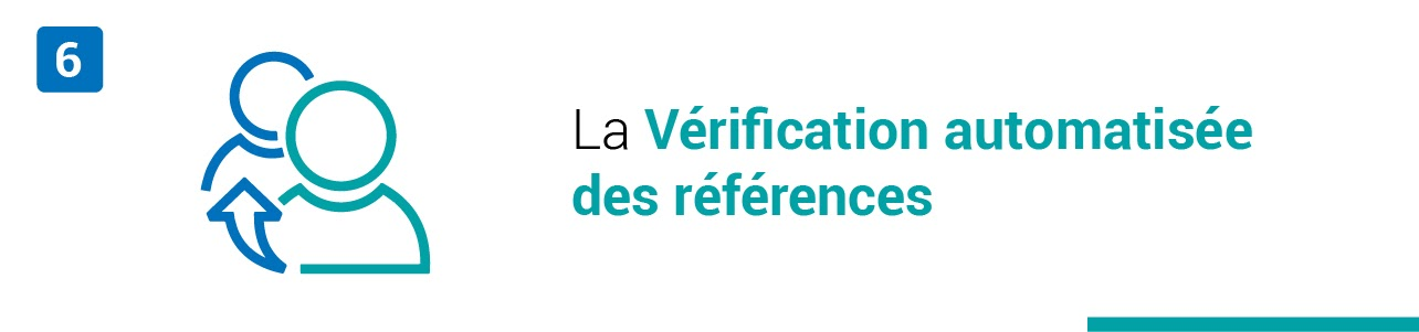 La vérification automatisée des références